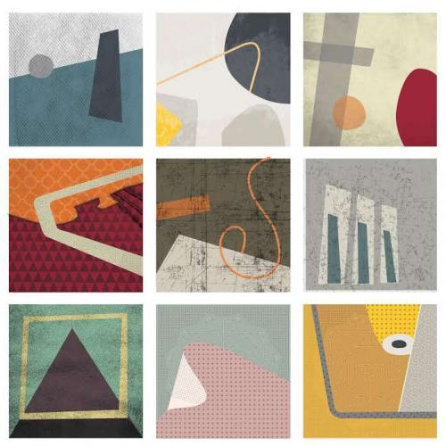 Abstract Squares - a study in shape, line, colour and texture